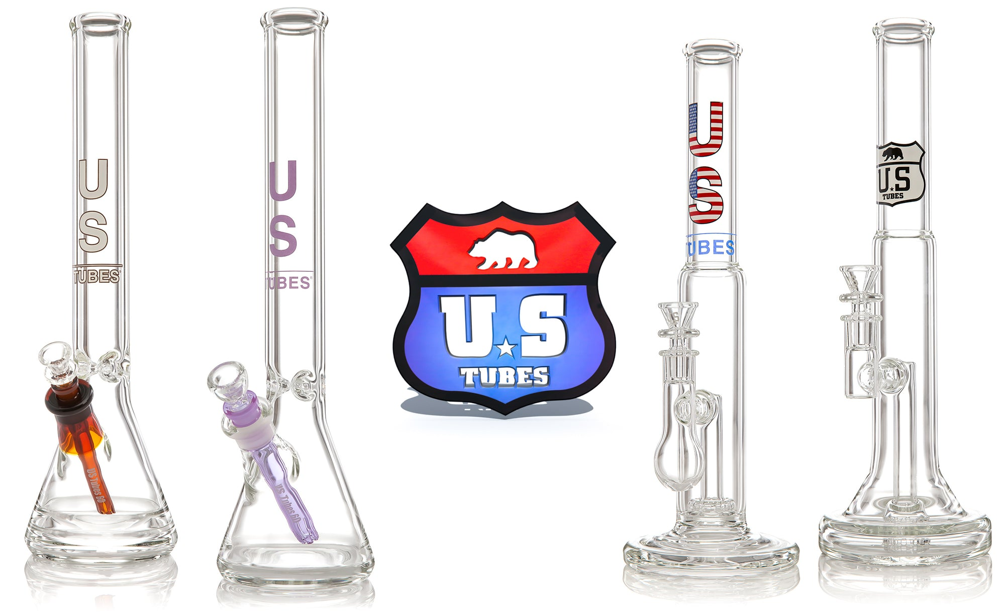 US TUBES Water Pipes with Logo