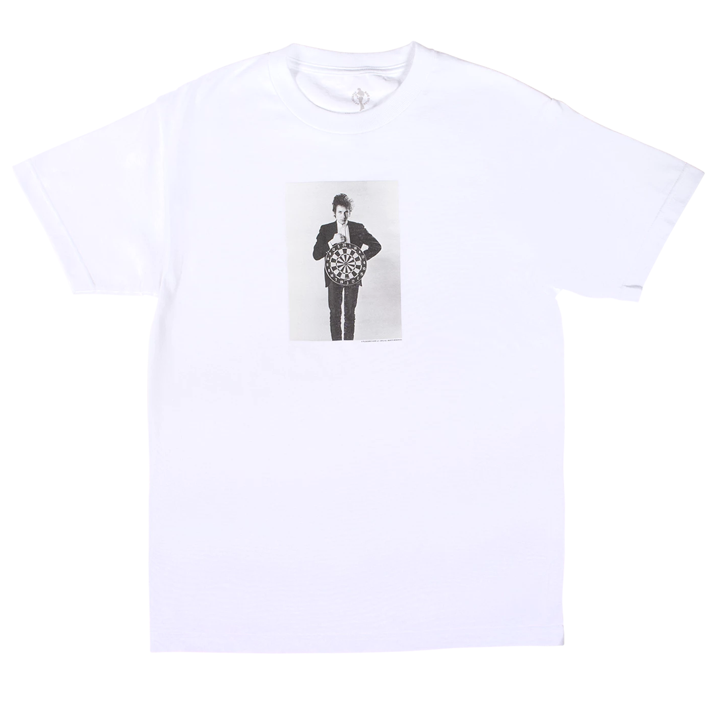Bob Dylan Darts Short Sleeve Shirt (White)