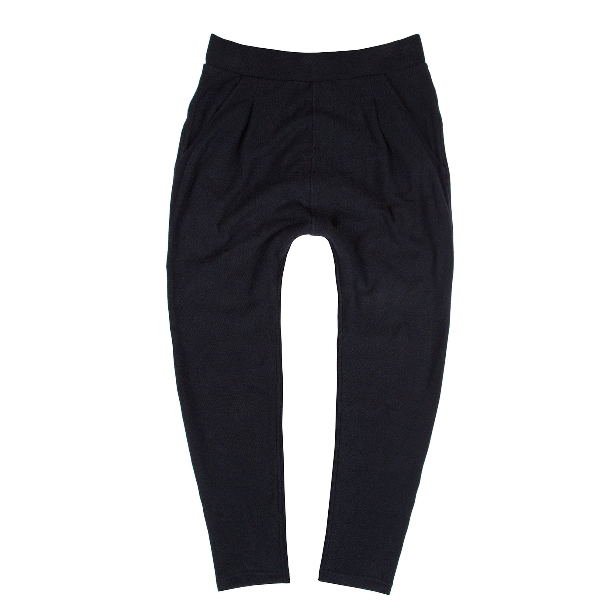 Pleated Sweatpant (Black)