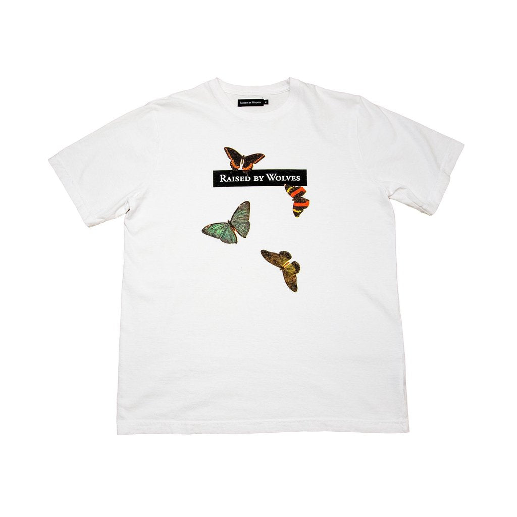 Butterflies Short Sleeve Shirt (White)