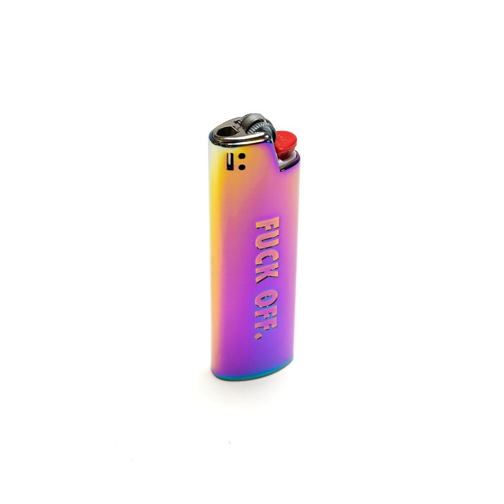 Fuck Off Lighter Case (Rainbow)
