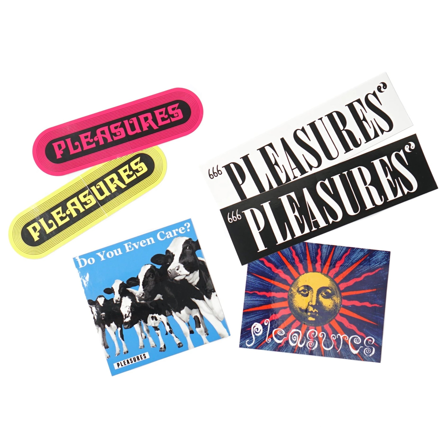 Pleasures Summer 2019 Sticker Pack (6 Stickers)