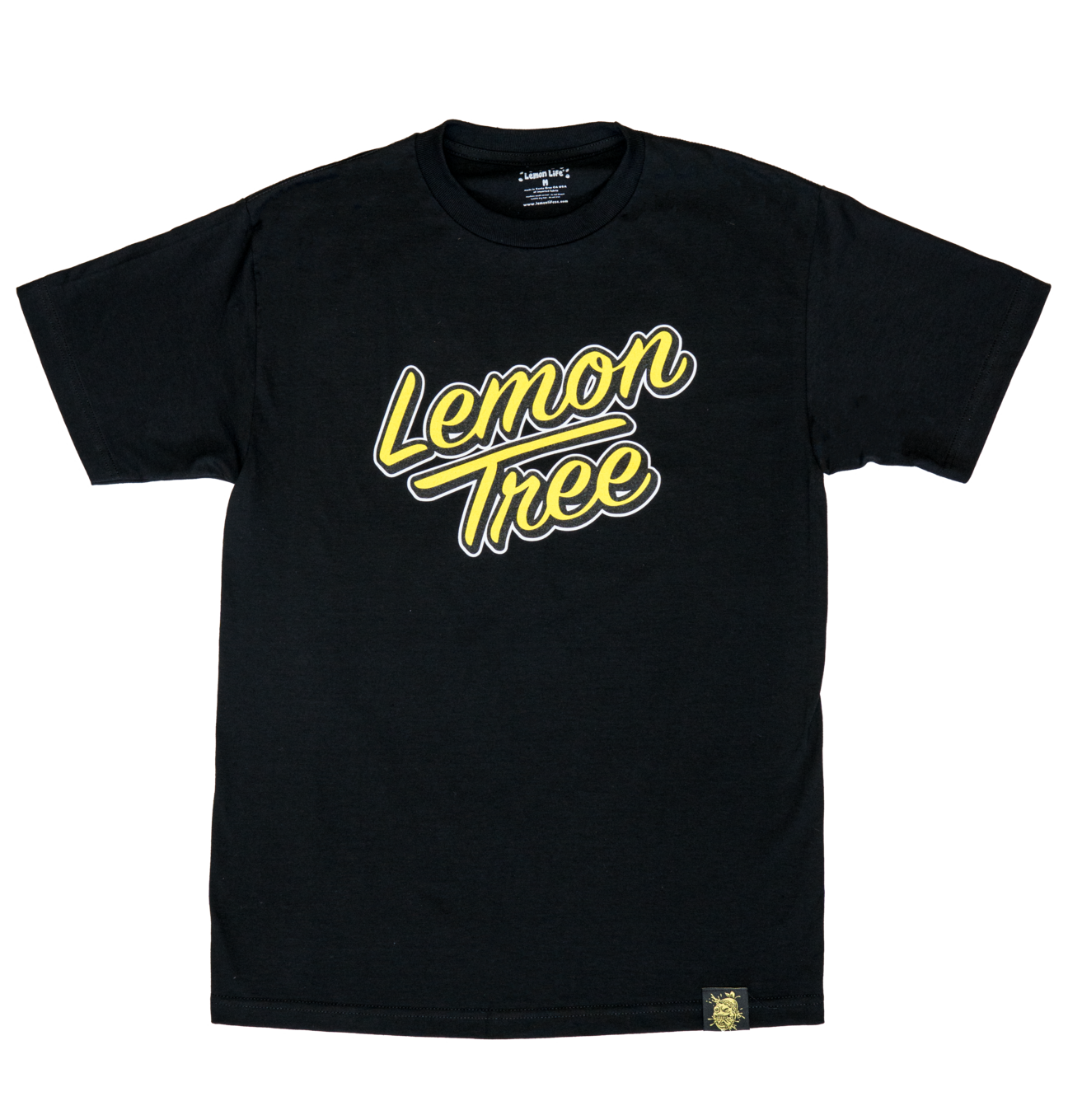 Lemon Tree Sunset Script T-Shirt (Black)