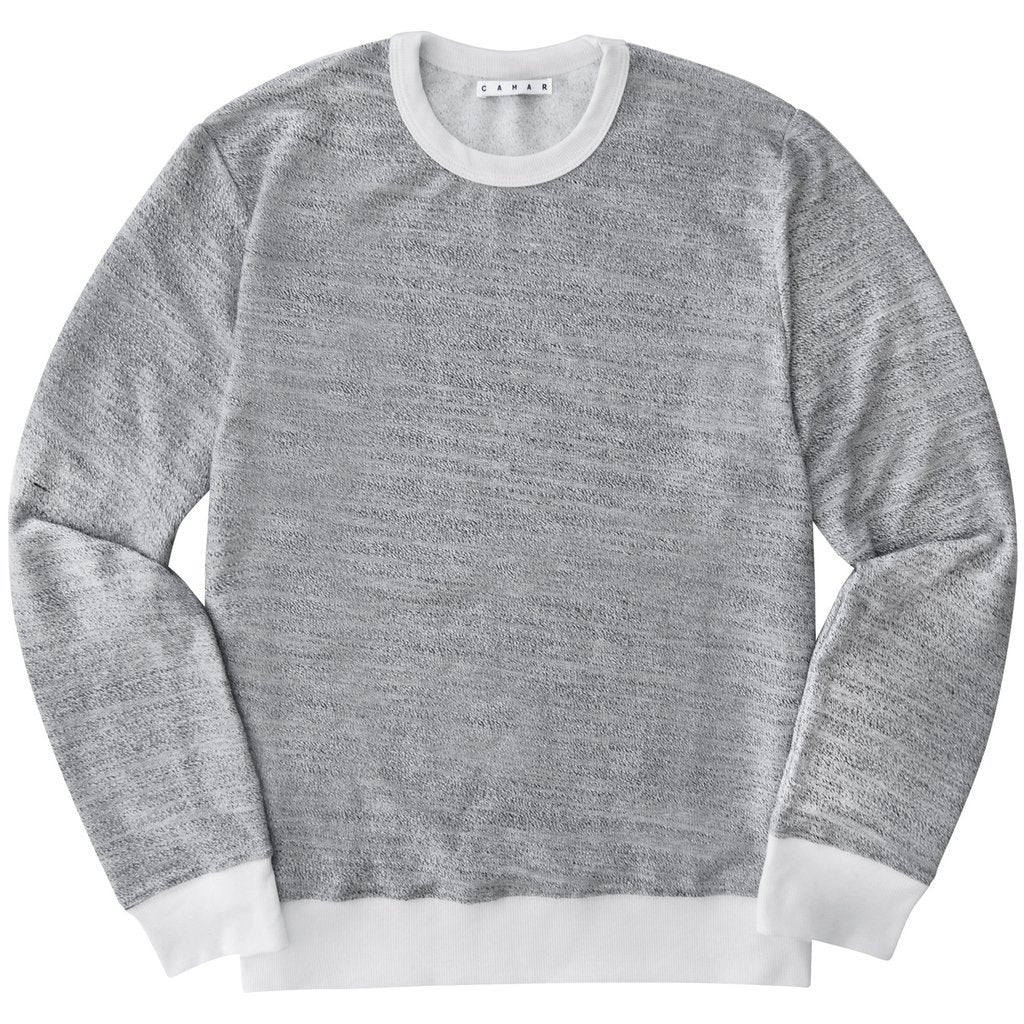Coast Crewneck (Heather/White)