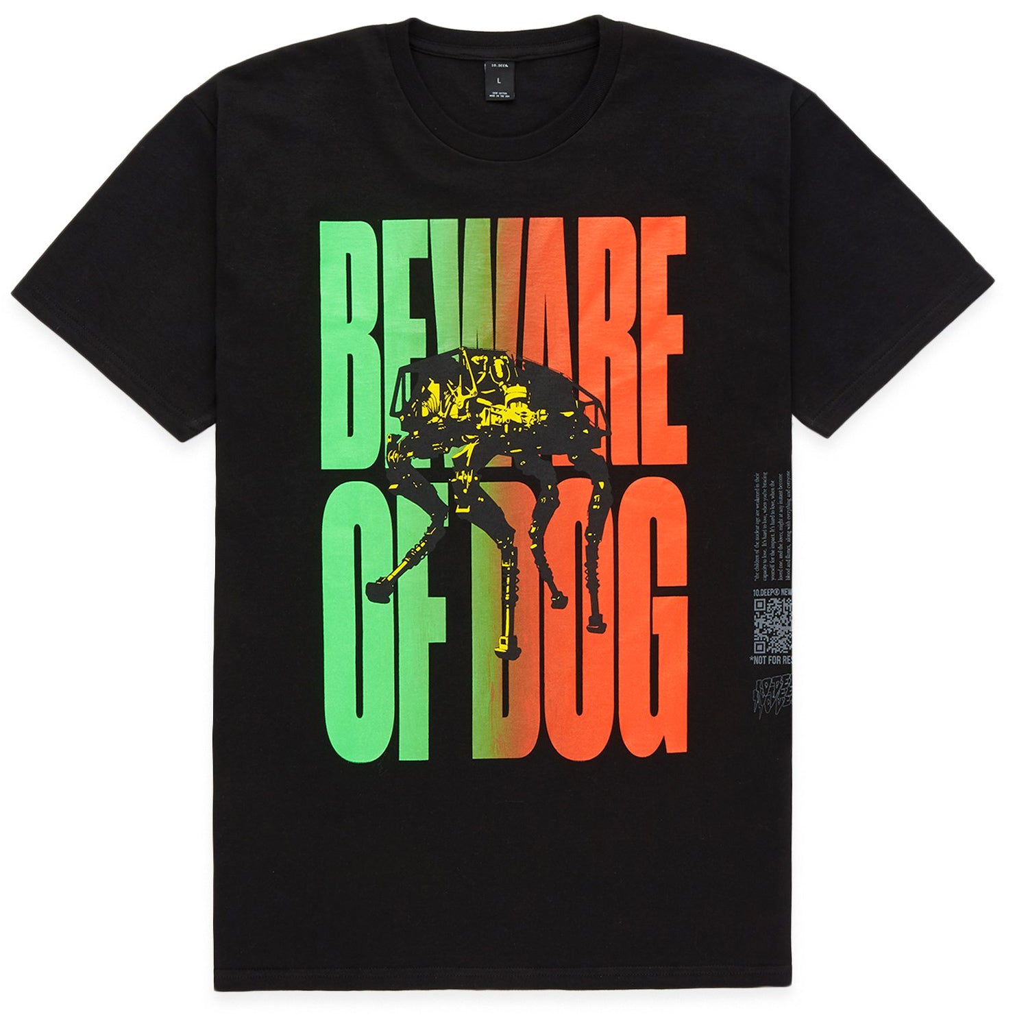 Beware Of Dog Tee (Black)