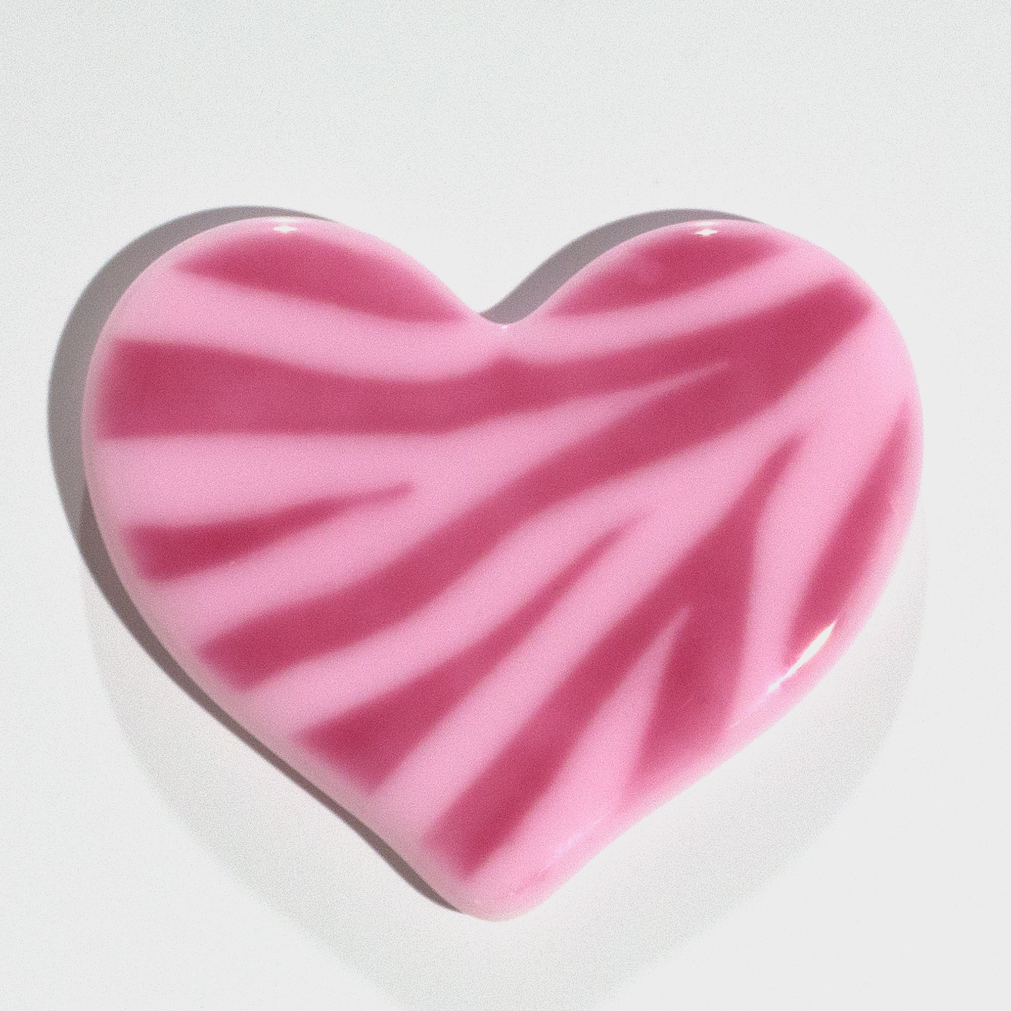 Pink Zebra Decorative Heart Coaster