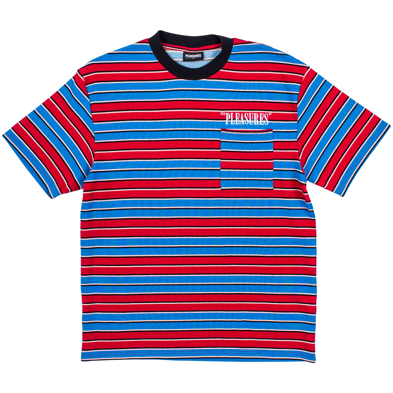 Pleasures Chainsmoke Stripe (Blue/Maroon)
