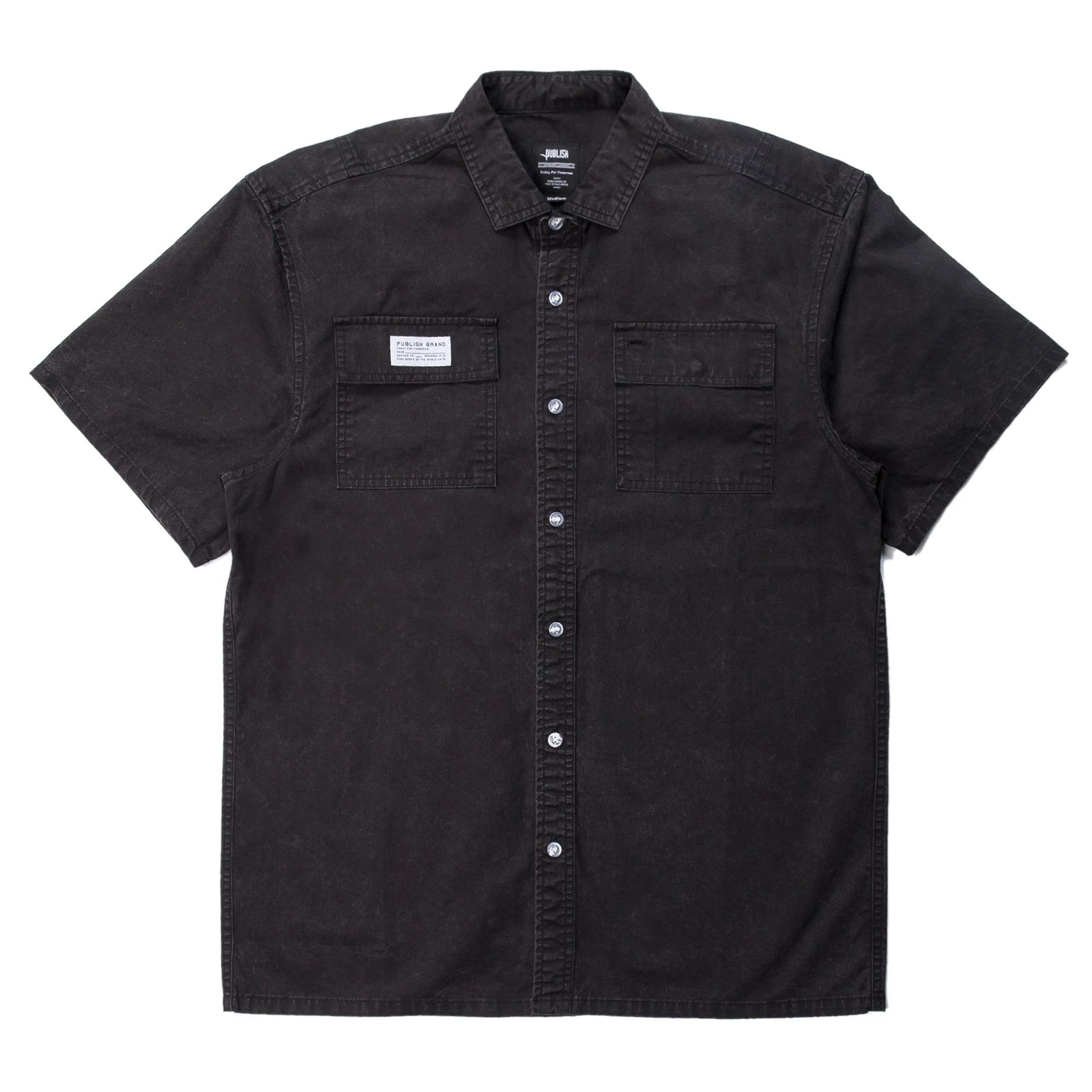 Buy Short Sleeve Button Up (Black)