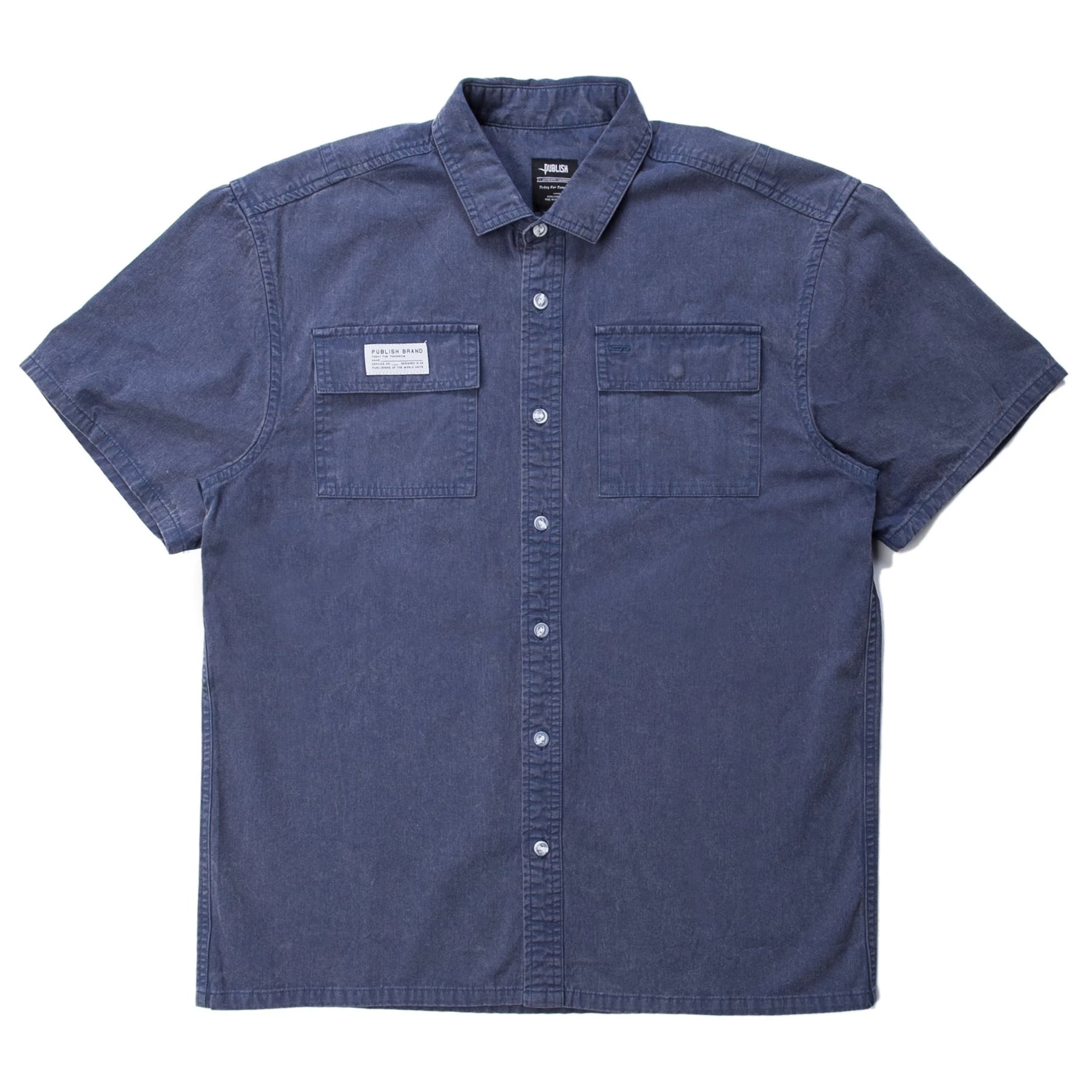 Buy Short Sleeve Button Up (Navy)