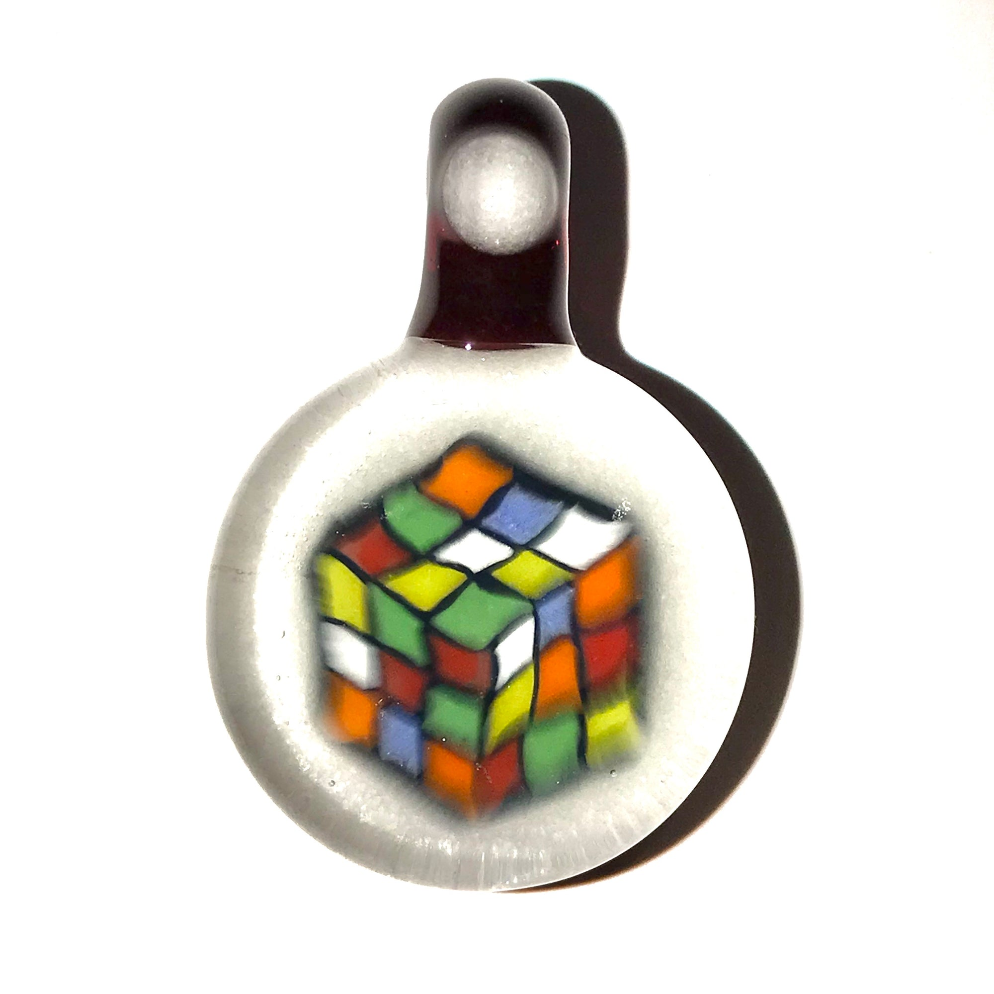 Rubix's Cube Milli Pendant (Dragons Blood/White)