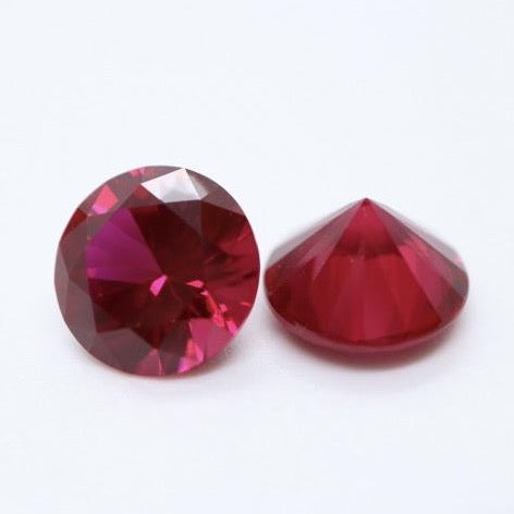 10mm Diamond Cut Ruby by Ruby Pearl Co