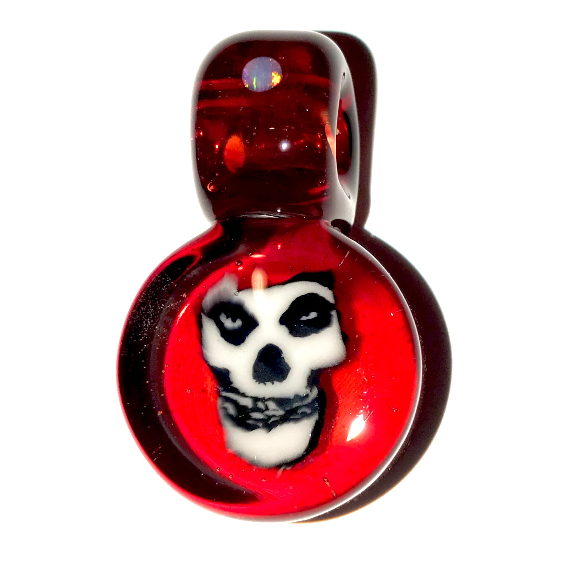 Misfits Crimson Skull Milli Pendant (Red Elvis/Black/White)