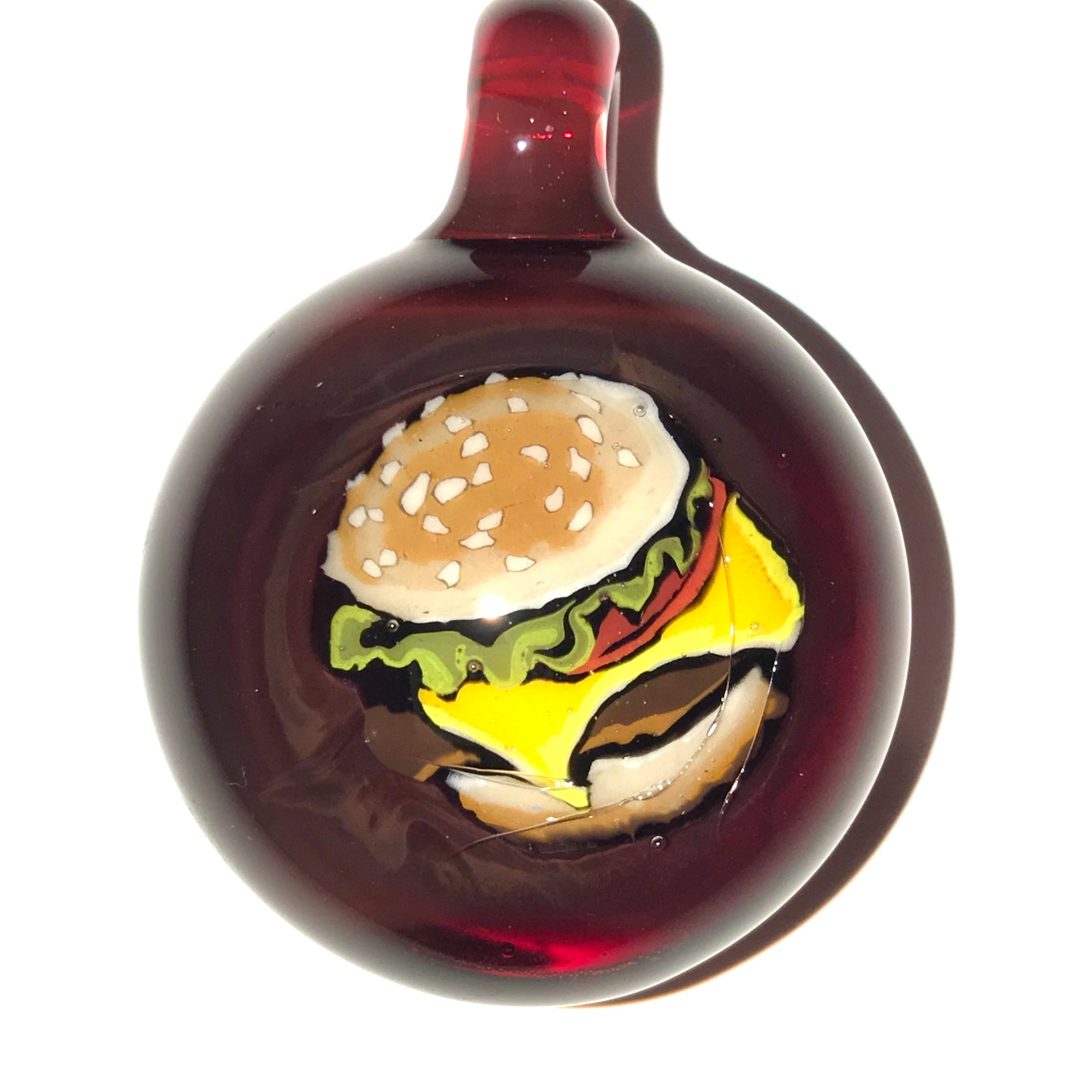 Hamburger Milli Pendant (Dragons Blood)