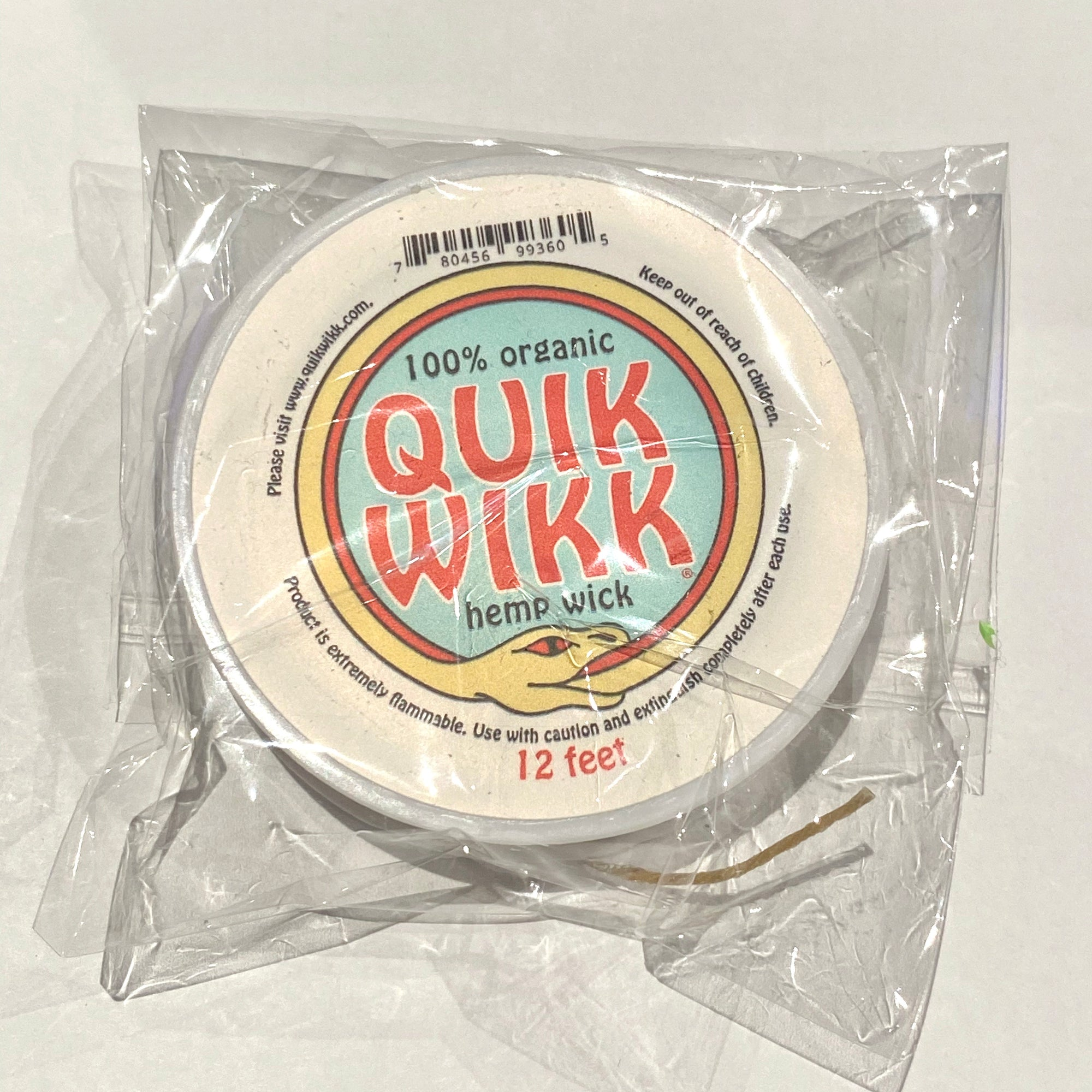 Quik Wikk Hemp Wick Classic Spool (12ft)