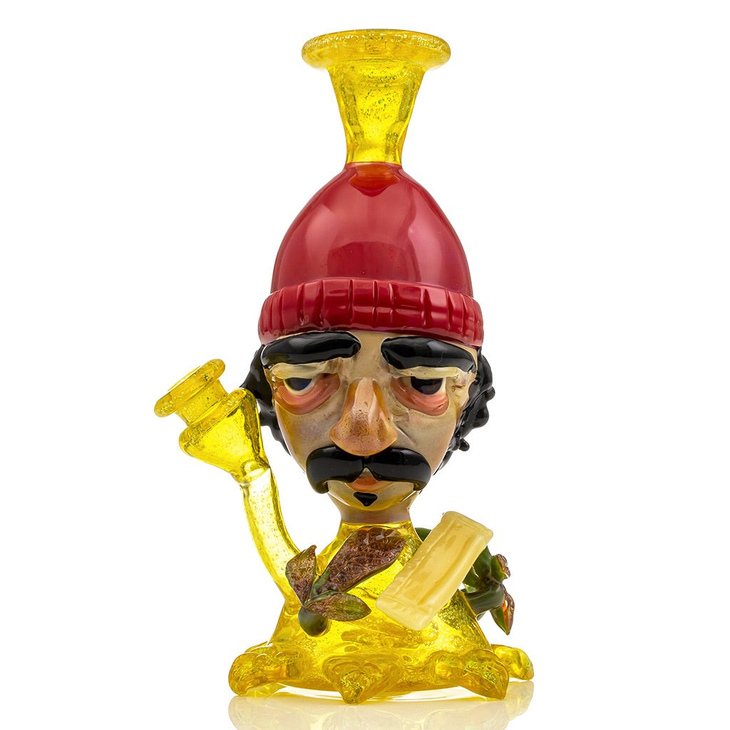 Cheech Dichro Bobble Head Mini Tube Colab (Terps/Red/Black/Caramel) CFL Color Change