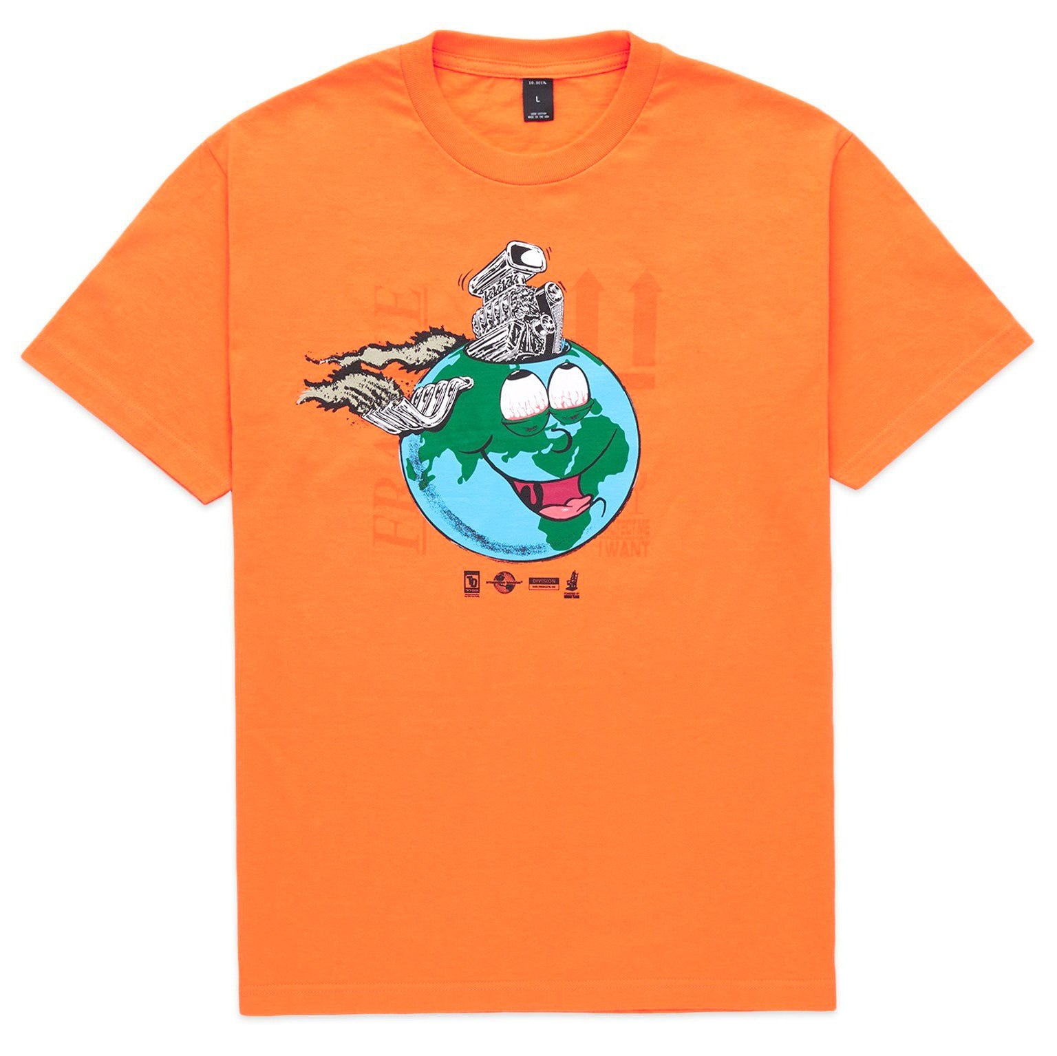 Let's Go To Hell Short Sleeve T-Shirt (Orange)
