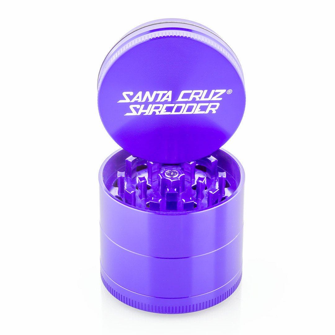 Santa Cruz Shredder Medium 4 Piece Grinder (Purple) s