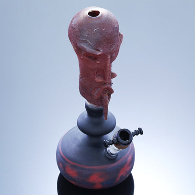 Sculpted Head Water Pipe