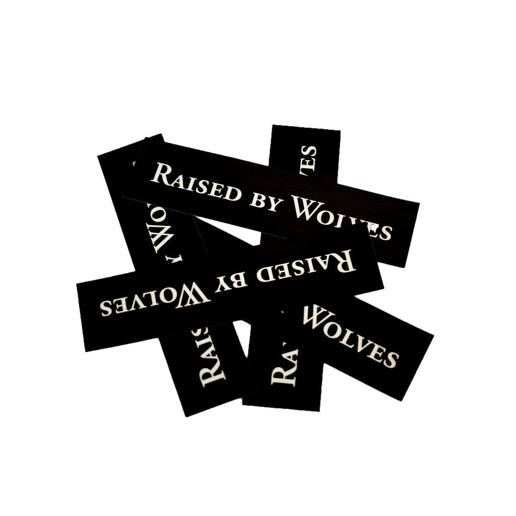 Pack of 5 RBW Logotype Stickers (Black)