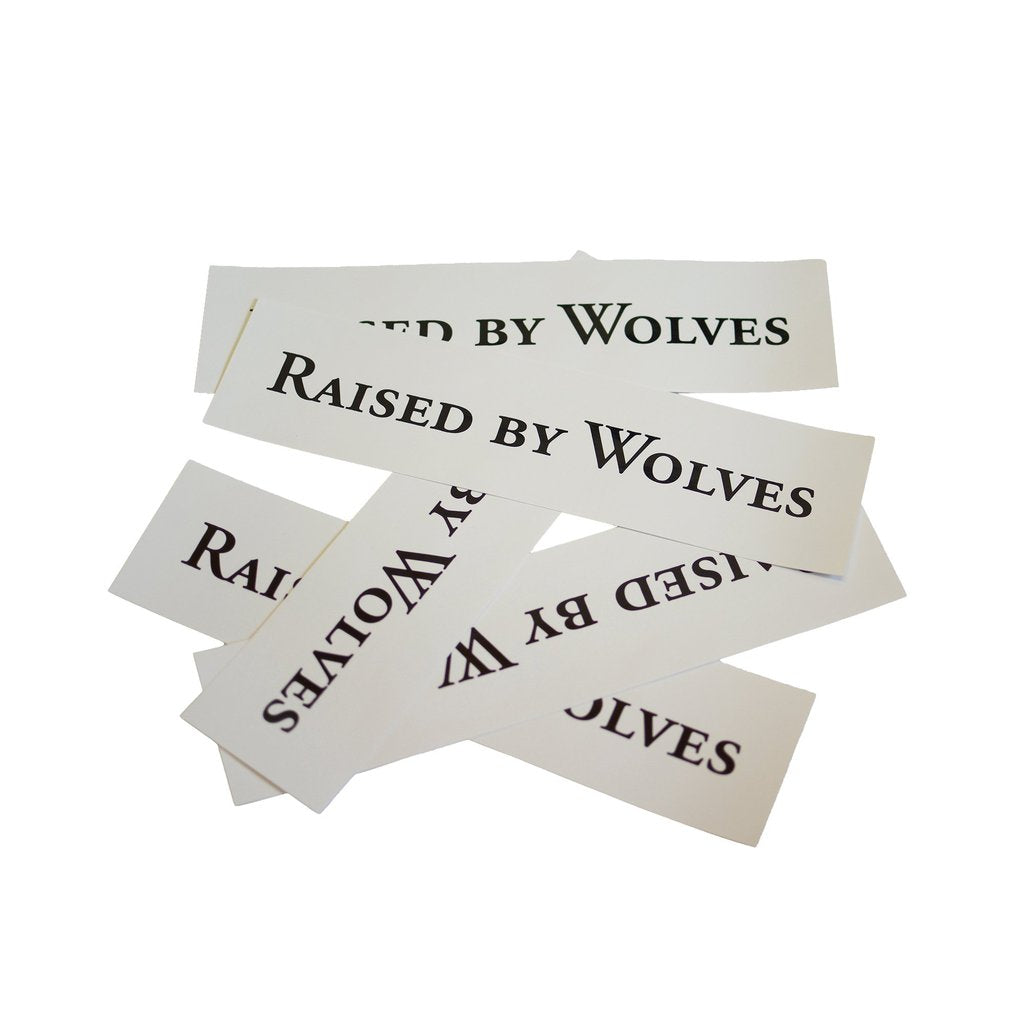 Pack of 5 RBW Logotype Stickers (White)