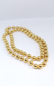 NO BRAND gold long beaded necklace