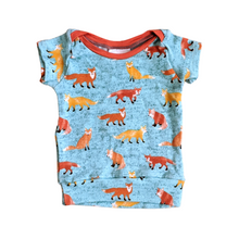 Load image into Gallery viewer, 6 mo - Tiny Tee - Foxes (Ready to Ship)