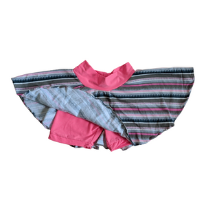 3T - Eryn Skirt - Pink/Grey Striped (Ready to Ship)