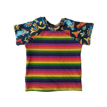 Load image into Gallery viewer, 3T - Rae Raglan - Rainbow Dinosaurs (Ready to Ship)
