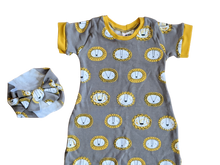 Load image into Gallery viewer, 2T - Oliver Romper - Lions (Ready to Ship)
