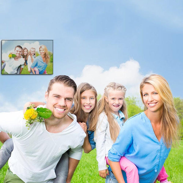 5D Diy Custom Happy Time With Family Photo Diamond Painting