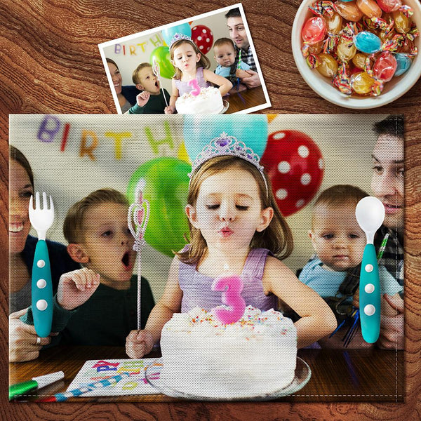 Custom Photo Placemat - Enjoy Dinner With Your Family