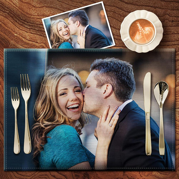 Custom Photo Placemat - Enjoy Dinner With Your Family - Adult