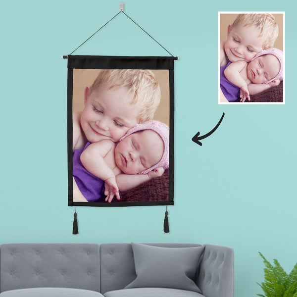 Custom Baby Photo Tapestry Wall Decor Fabric Painting