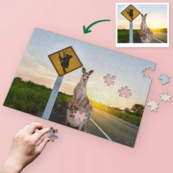 Custom kangaroo Photo Jigsaw Puzzle - 35/150/300/500/1000 Pieces