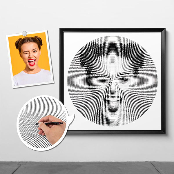 Custom Photo Spiral Painting With Frame - For Woman