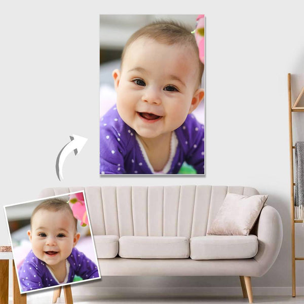 Custom Baby Photo Wall Decor Painting Canvas Without Frame