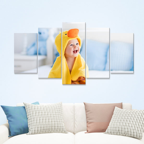 Custom Baby Photo Wall Decor Painting Canvas 5 Pieces Without Frame