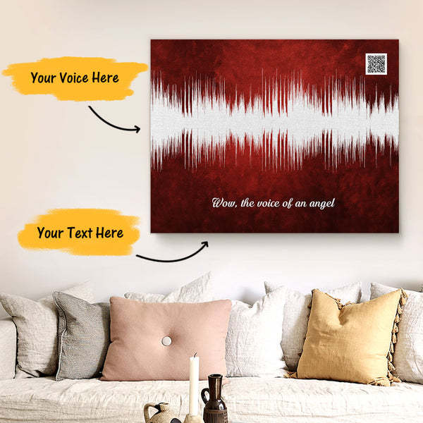 Custom Sound Gifts - Personalised Soundwave Art Print With Text - Sangia