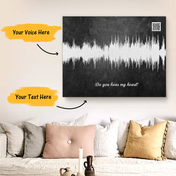 Custom Sound Gifts - Personalised Soundwave Art Print With Text - State