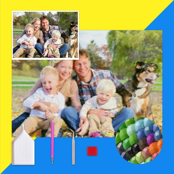 5D Diy Custom Happy Family Photo Diamond Painting (Hot Sale!)