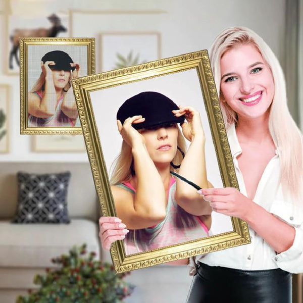 5D Diy Custom Cool Girl Photo Diamond Painting