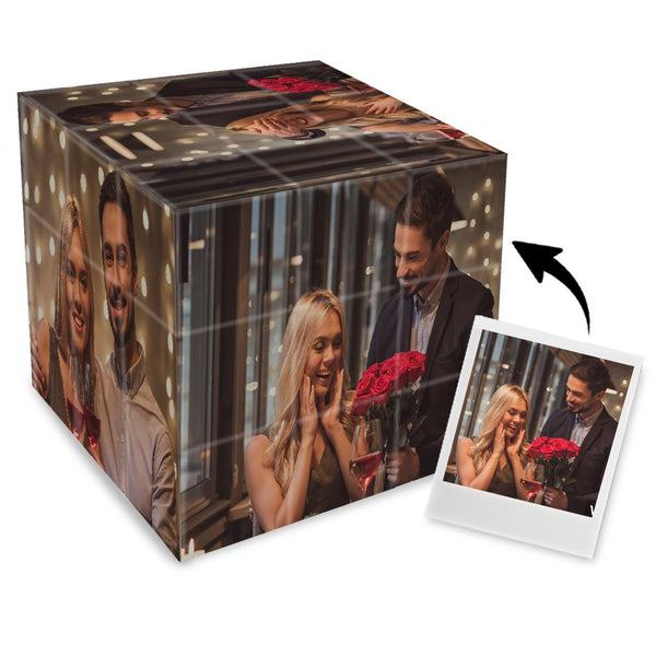 Custom Multi Photo Rubik's Cube - For Couple