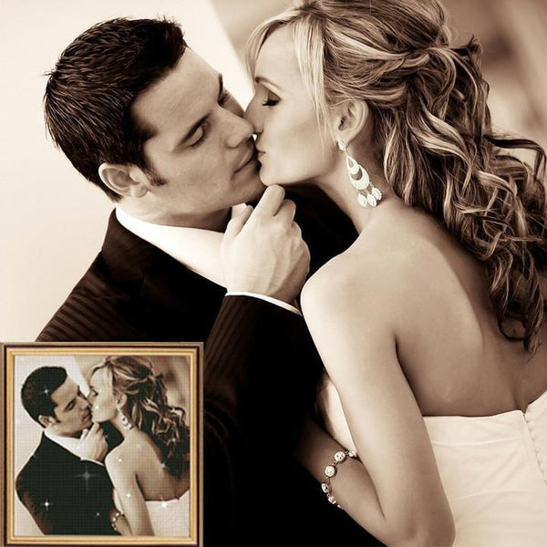 5D Diy Custom Sweet Couple Photo Diamond Painting