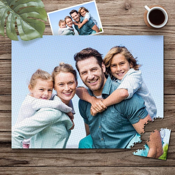 Custom Happy Family Photo Jigsaw Puzzle - 35/150/300/500/1000 Pieces