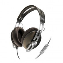 Sennheiser MOMENTUM Closed Back HiFi Headphones with Replaceable Cable and Apple Controls & Mic - Brown
