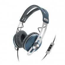 Sennheiser MOMENTUM On Ear Closed Back HiFi Headphones with Replaceable Cable and Apple Controls & Mic - Blue