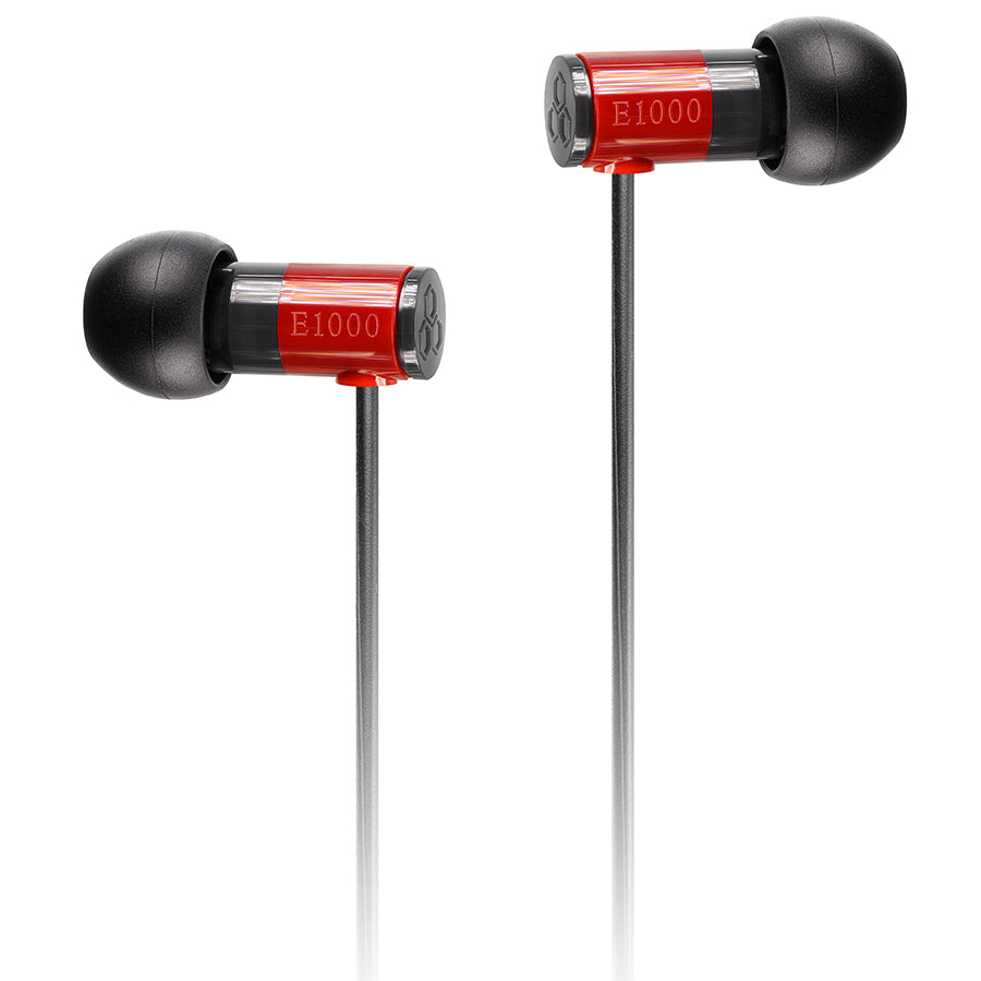 Final E1000 In Ear Isolating Earphones - Red - Refurbished