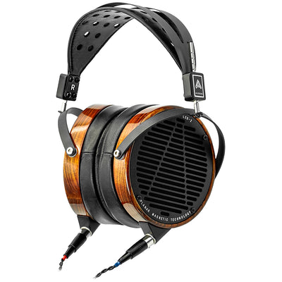 Audeze LCD-2 Rosewood Open Back Headphones with Detachable Cable and Travel Case - Leather