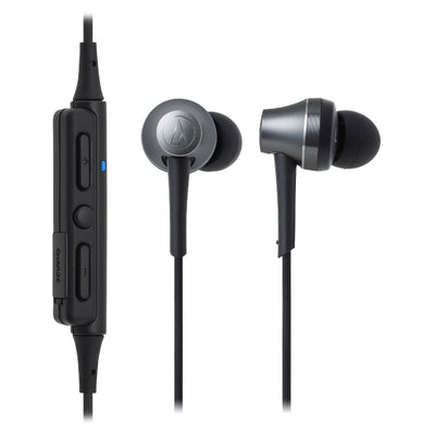 Audio-Technica ATH-CKR75BT In Ear Isolating Wireless Earphones with Controls & Mic - Gunmetal - Refurbished