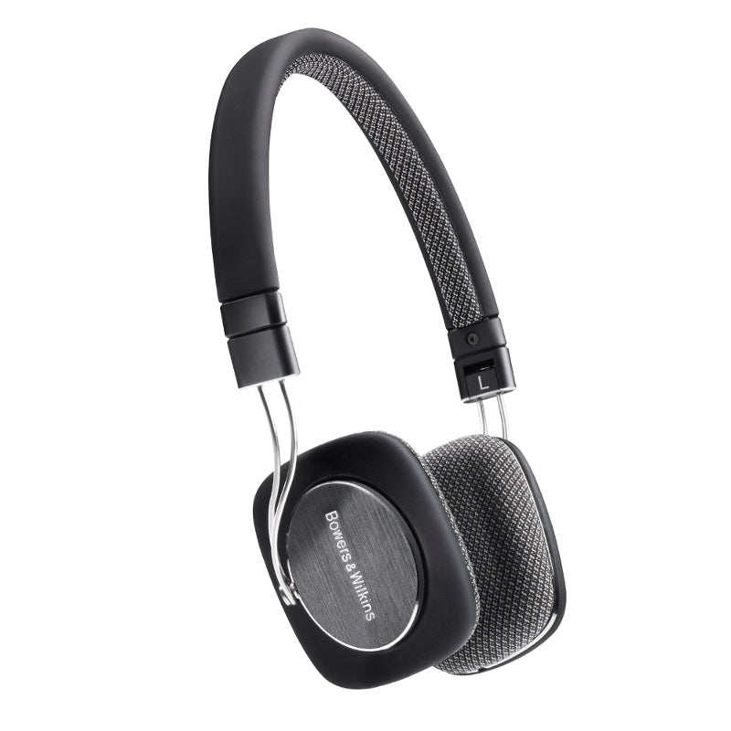 Bowers & Wilkins P3 Headphones with Replaceable Cable and Apple Controls & Mic - Black - Refurbished